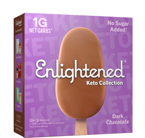 Dark chocolate keto ice cream bars- Enlightened keto