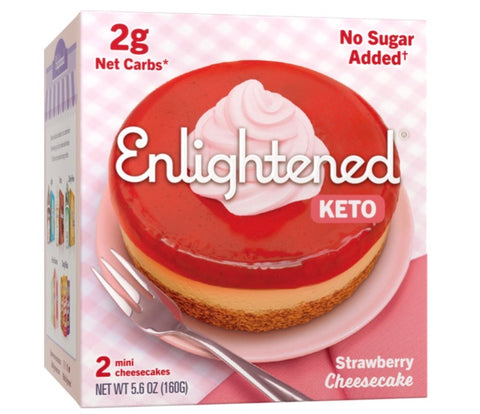 Strawberry Keto Cheesecake- Enlightened