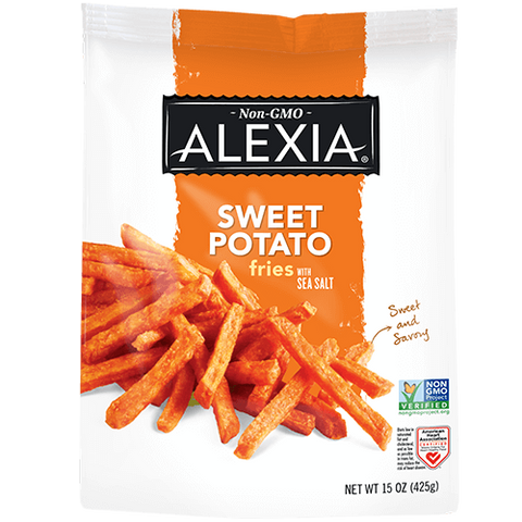 SWEET POTATO FRIES WITH SEA SALT - ALEXIA