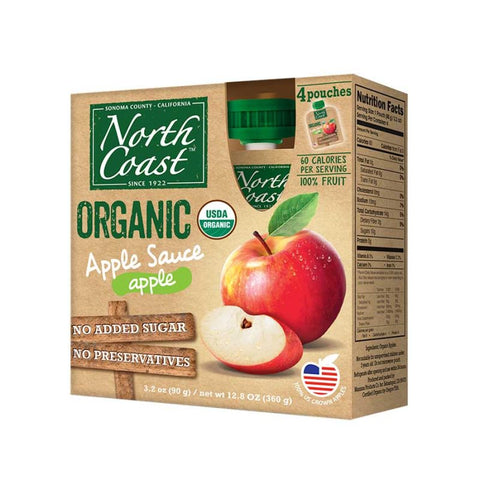 ORGANIC APPLE SAUCE POUCHES 4 PACK