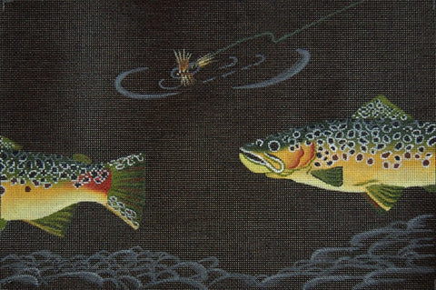 Brown Trout And Dry Fly