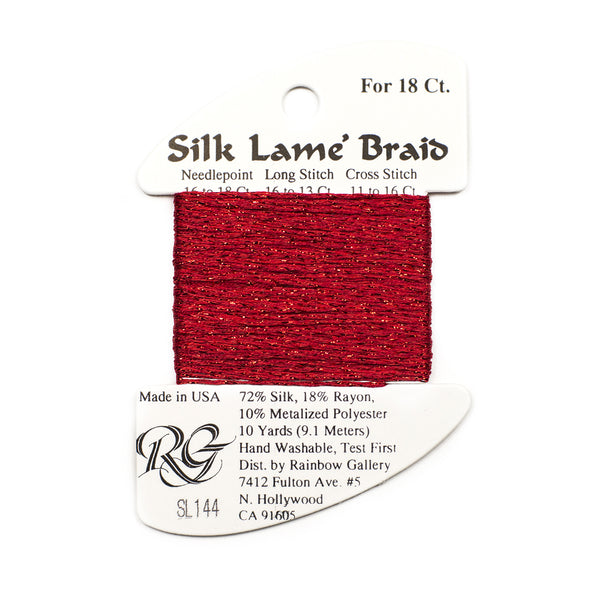 Silk Lame' Braid #18 SL01-SL100