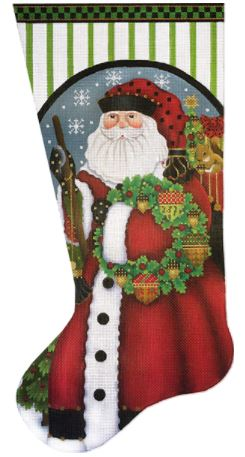 Fancy Acorn Santa Sock