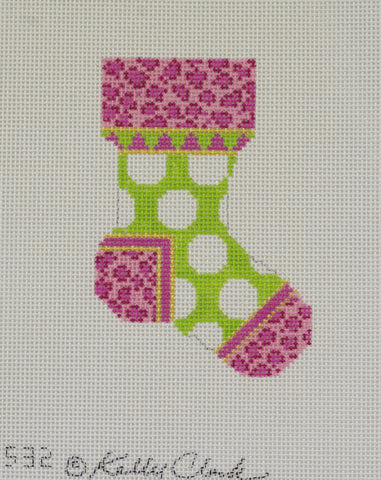 Kiwi Grand Polka Dot Sock