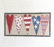Stars & Stripes Heart Bolster