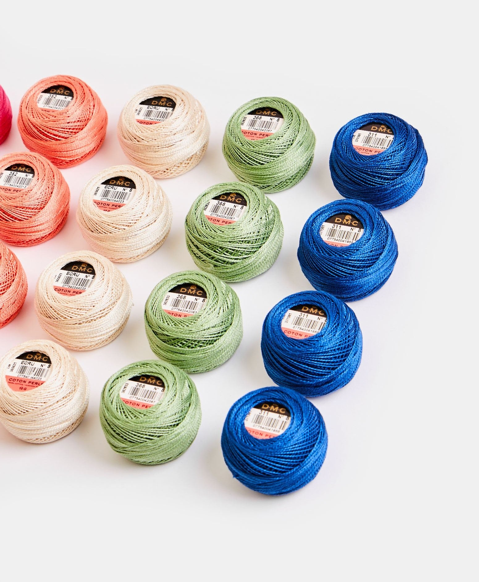 Perle Cotton #8 balls Colors 718-973