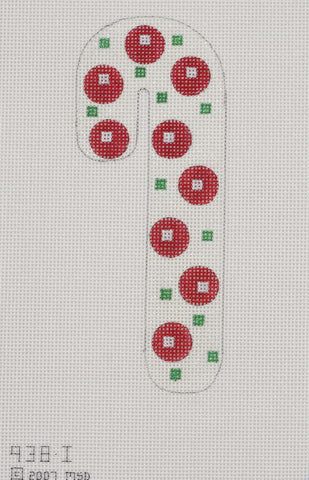 Dots and Square Candy Cane