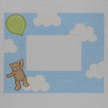 Flying High Teddy Plaque/Frame Green