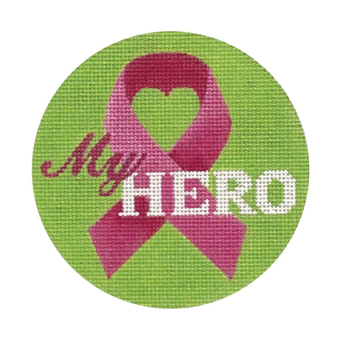 My Hero Pink Ribbon Ornament
