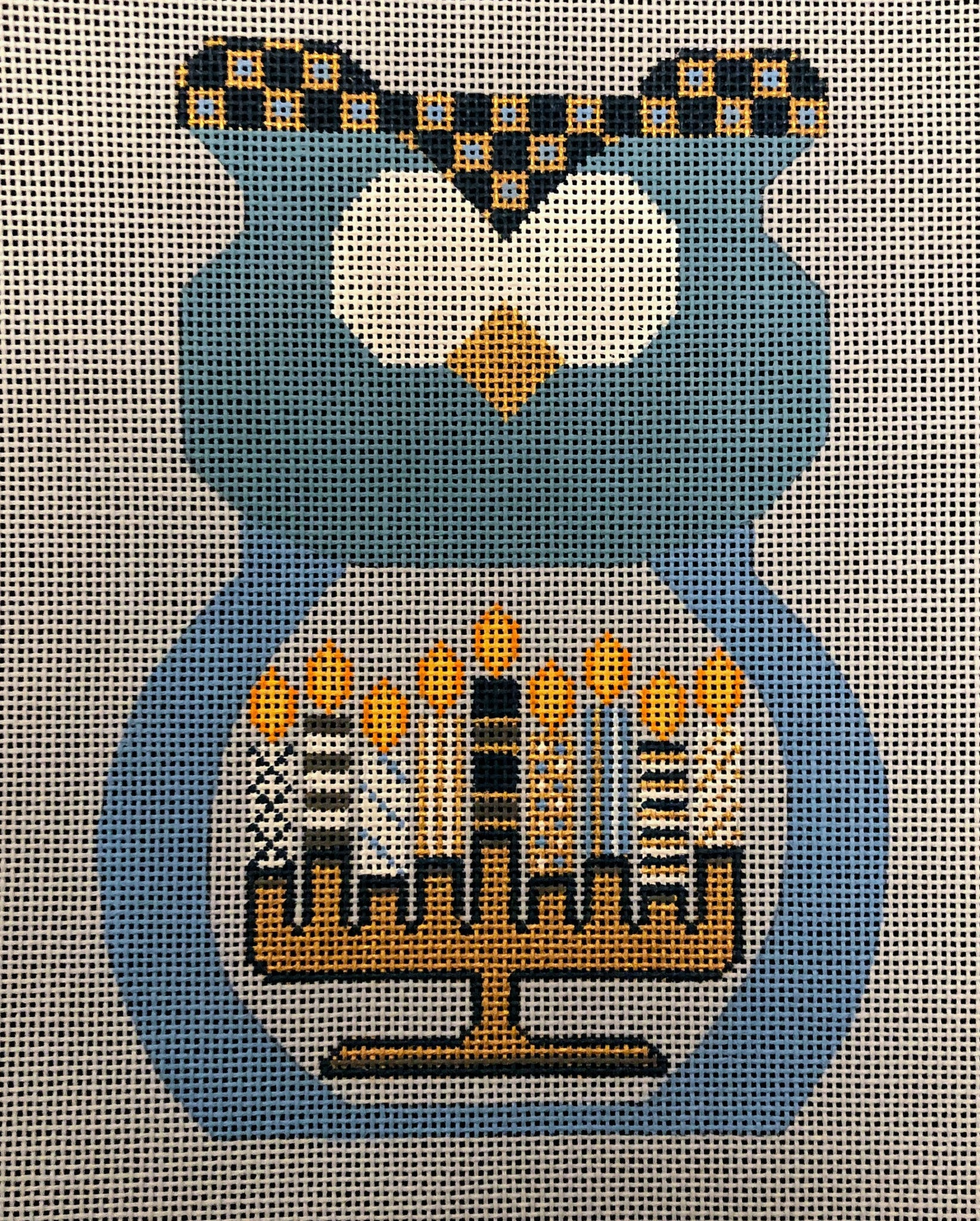 Hanukkah Owl - Stitch guide included