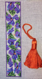 Violets Bookmark with Tassel