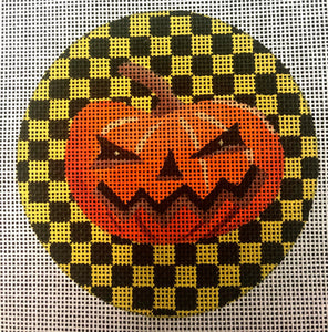 Jack O' Lantern with Yellow and Black
