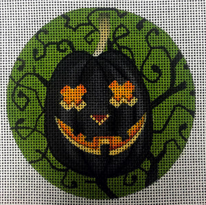 Jack O' Lantern with Green and Black