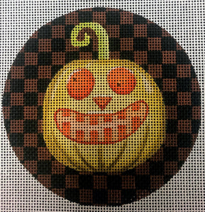 Jack O' Lantern with Checked Background