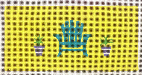 Blue Chair with Plants