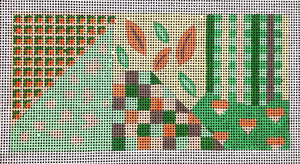 Peach and Green Geometric with Hearts