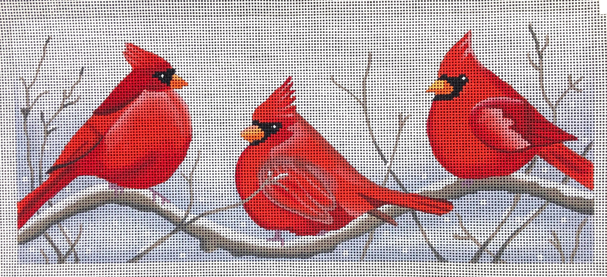Cardinals in the Snow with Stitch Guide by Suzie Vallerie