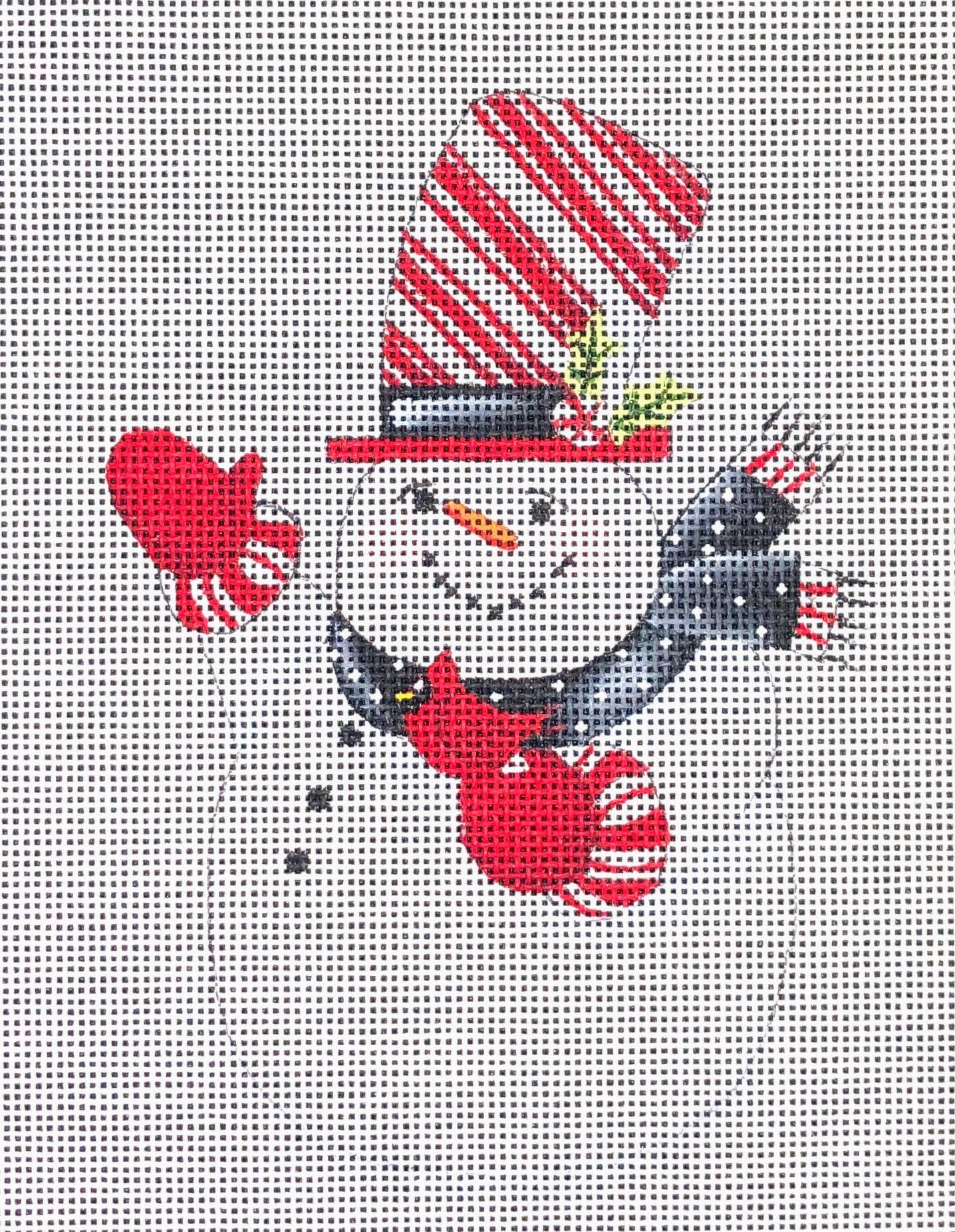 Snowman with Bird in Hand