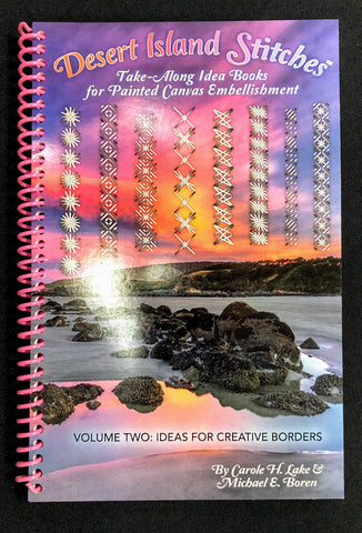 Desert Island Stitches, Take-Along Idea Books For Painted Canvas Embellishment
