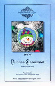 Patches Snowman - Punch Needle Design
