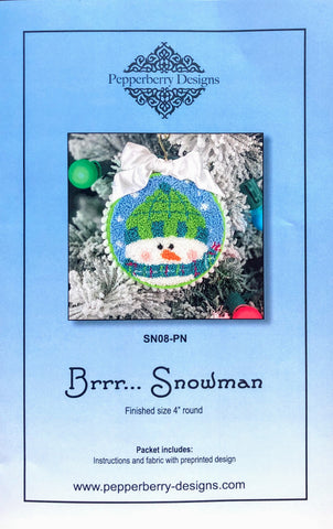 Brrr... Snowman - Punch Needle Design