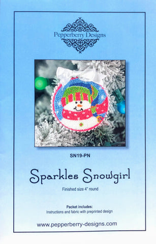 Sparkles Snowgirl - Punch Needle Design