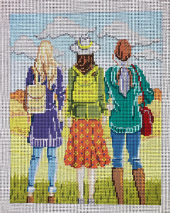 Three Girls in Fall