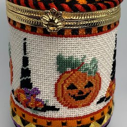 Hats & Pumpkins Hinged Box with Hardware