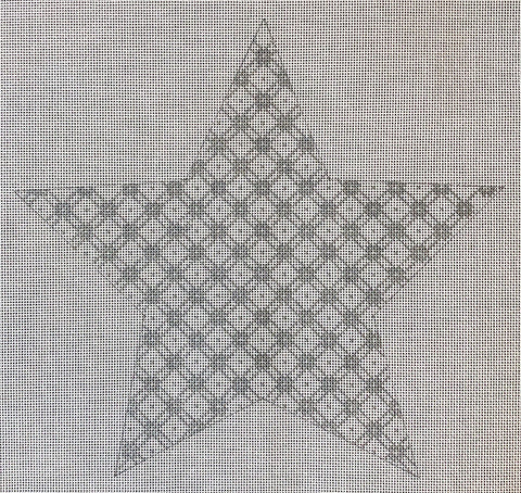 Star Tree Topper, Large - Jessie's Tree Topper Star, 10 inch - Silver, includes stitch guide