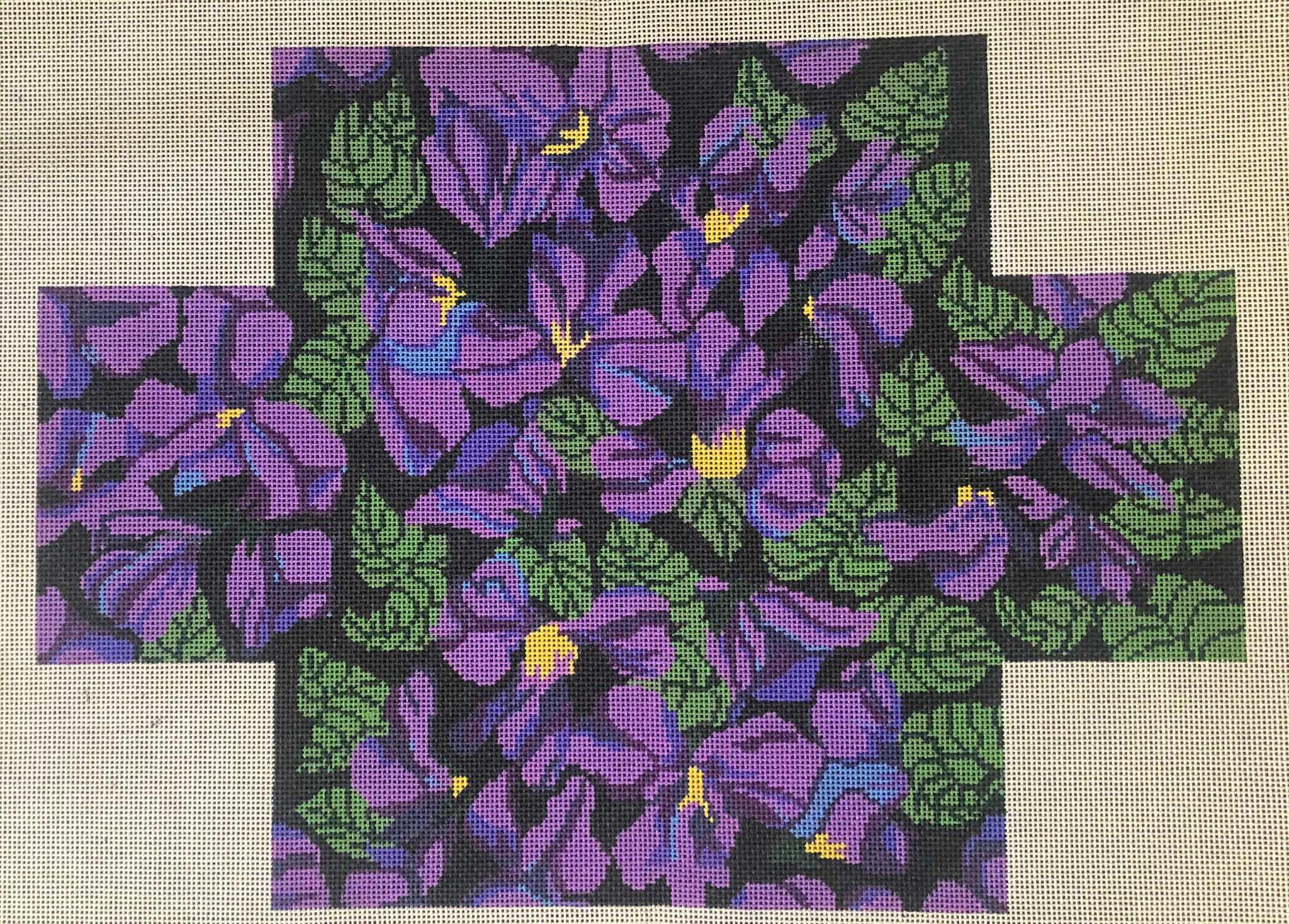 Brick Cover - 18 ct Violets in Black Brick Cover