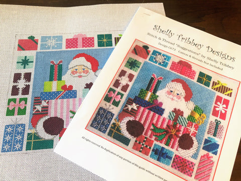 STASH BUSTER SANTA Canvas and Stitch Guide by Shelly Tribbey