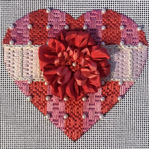 The Pink and Peach Heart Kit - Stitch Guide by Paulette Paquette