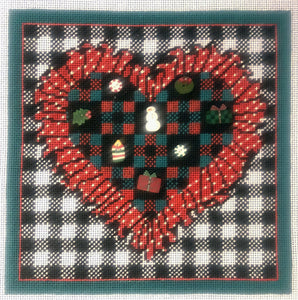 Checkerboard Christmas Heart