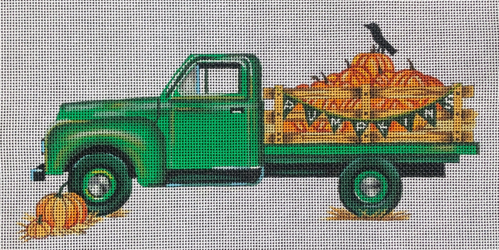 Truck with Pumpkins