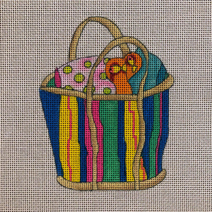 Beach Bag with Stripes