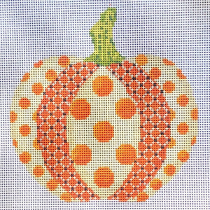 Orange and Cream Polka-dot Pumpkin