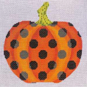 Orange and Black Polka-dot Pumpkin
