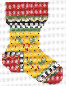 Yellow Holly Sock