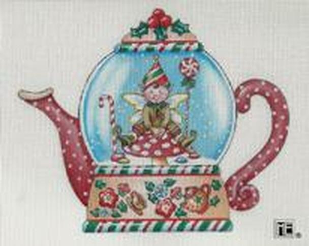 Elf Teapot Snow Globe
