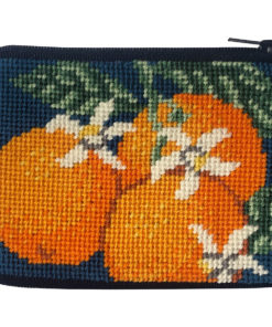 Stitch & Zip Oranges Coin Purse/Credit Card Case