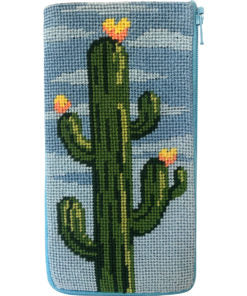Stitch & Zip Flowering Cacti Eyeglass/ Phone Case