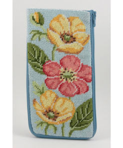 Stitch & Zip Buttercups Eyeglass/ Phone Case