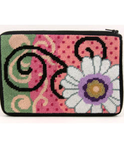 Stitch & Zip Dasy Swirl Cosmetic Purse