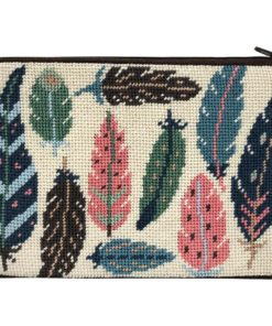 Stitch & Zip Feathers Cosmetic Purse