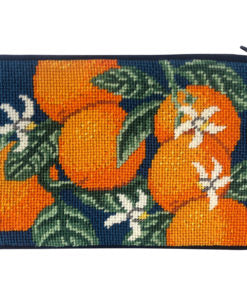 Stitch & Zip Oranges Cosmetic Purse