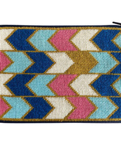 Stitch & Zip Geometric Arrows Cosmetic Purse