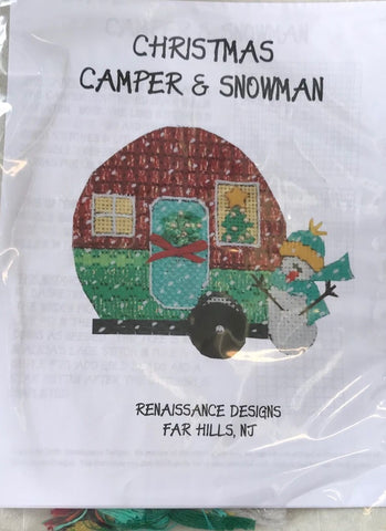 Christmas Camper and Snowman Ornament Kit