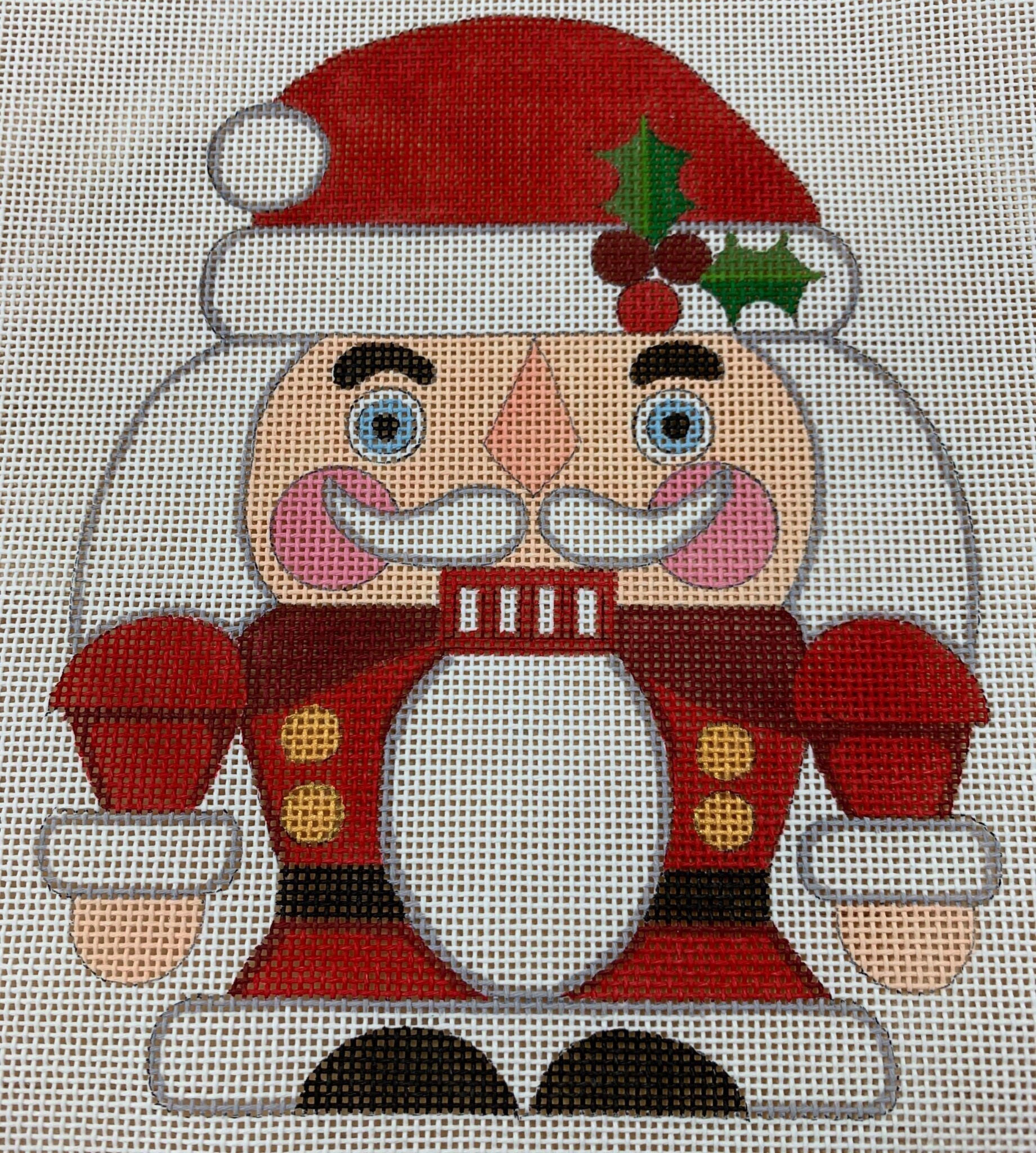 Nutcracker Santa - Canvas Only