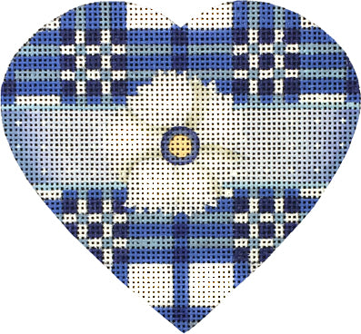 Blue Heart with Orange Button Kit