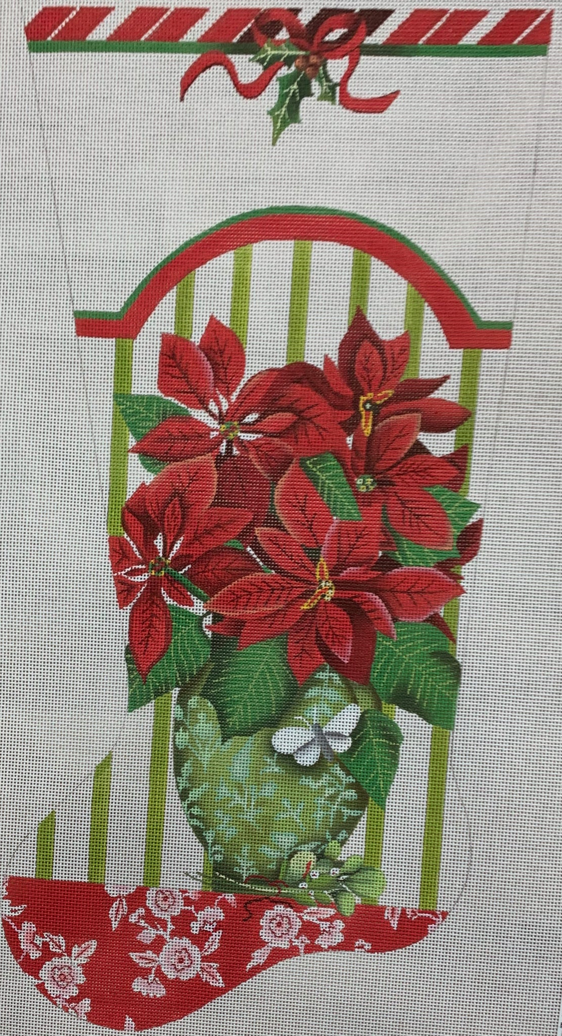 Poinsettia Stocking